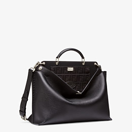 FENDI PEEKABOO ICONIC ESSENTIAL - Black leather bag - view 2 thumbnail