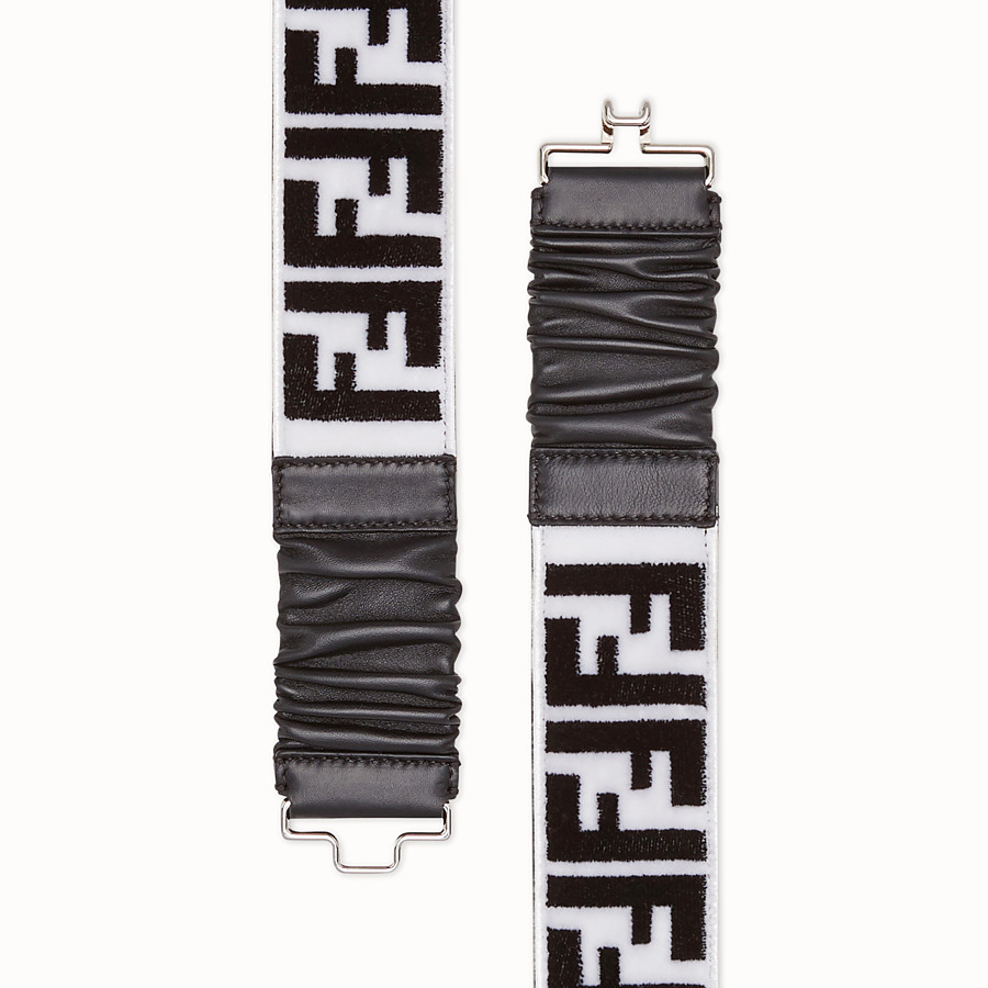 FENDI BELT - White and black fabric belt - view 2 detail