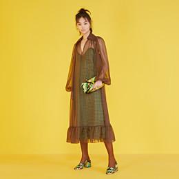FENDI PEEKABOO CLICK - Small bag in multicolor chenille - view 2 thumbnail
