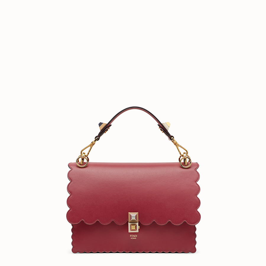 FENDI KAN I - Red leather bag - view 1 detail