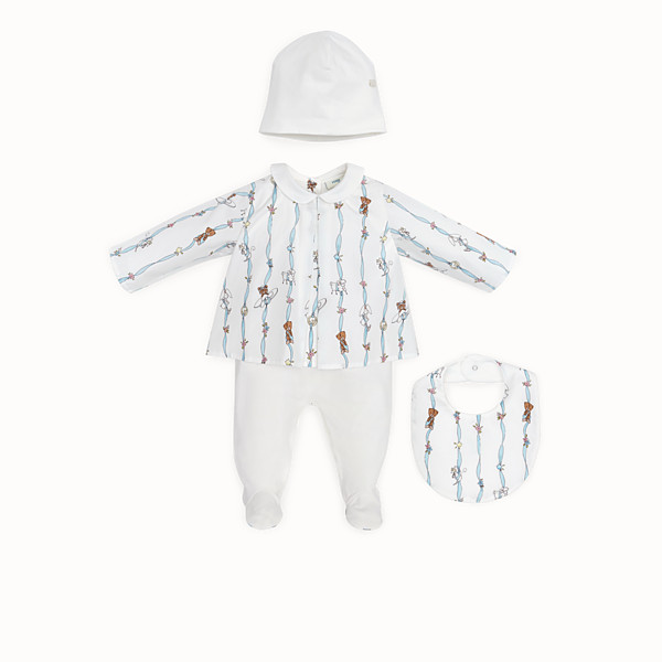 FENDI BABY KIT - Poplin and jersey printed Baby Kit - view 1 small thumbnail