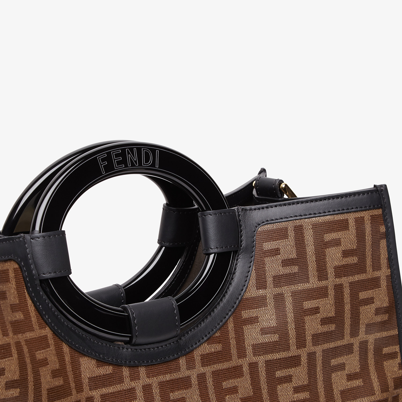 FENDI RUNAWAY SHOPPER - Shopper in brown fabric - view 5 detail