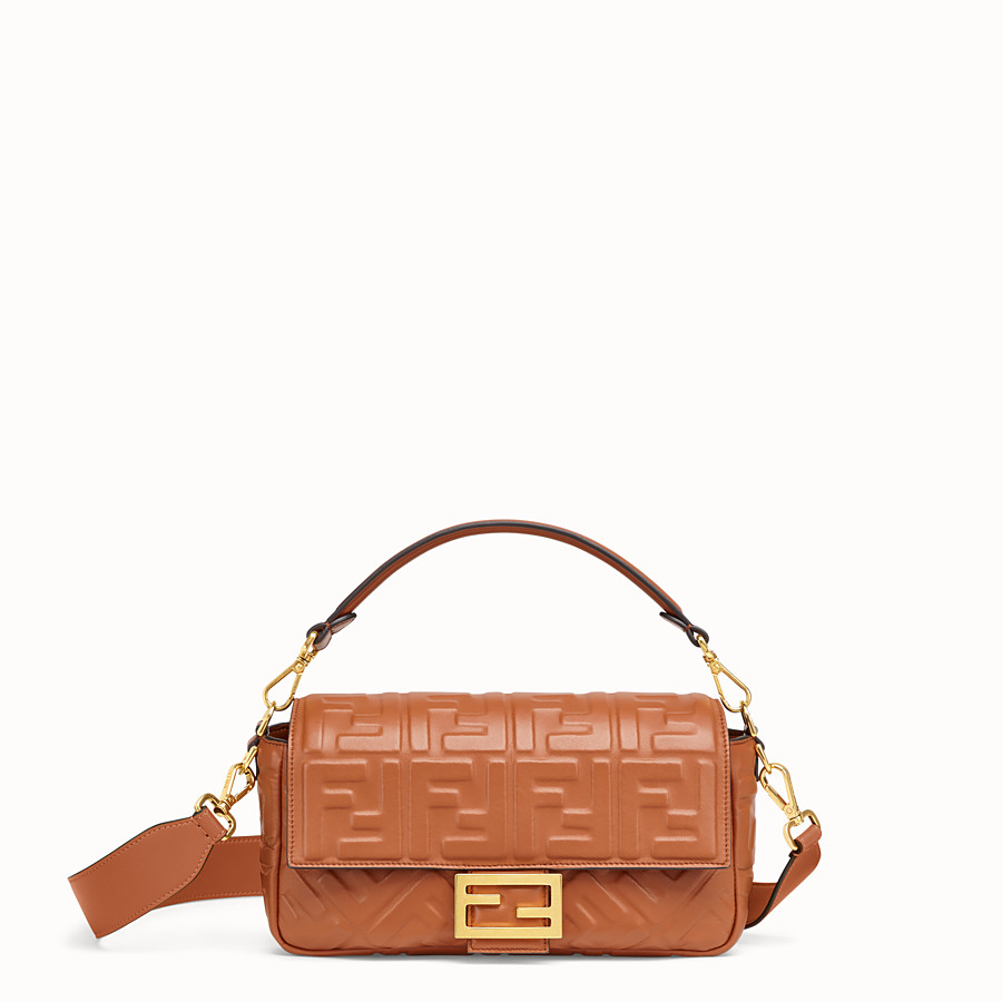 FENDI BAGUETTE - Brown nappa leather bag - view 1 detail