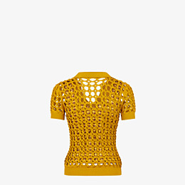 FENDI JUMPER - Yellow knit polo shirt - view 2 thumbnail