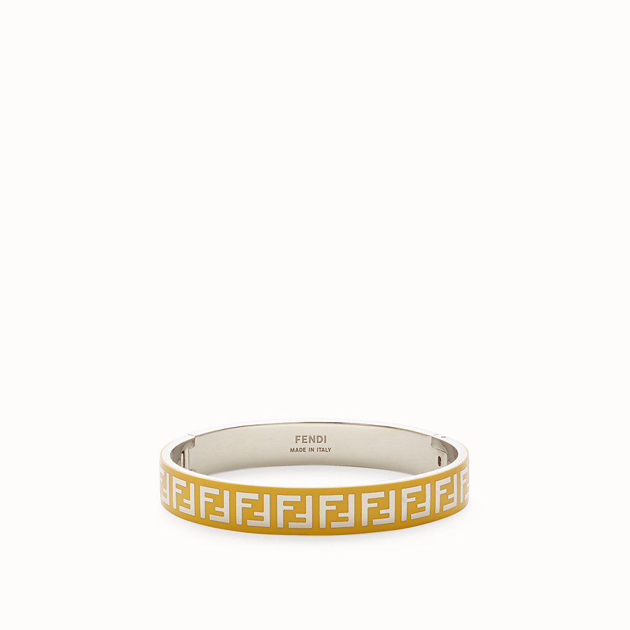 FENDI FF BRACELET - Palladium and yellow coloured bracelet - view 1 detail