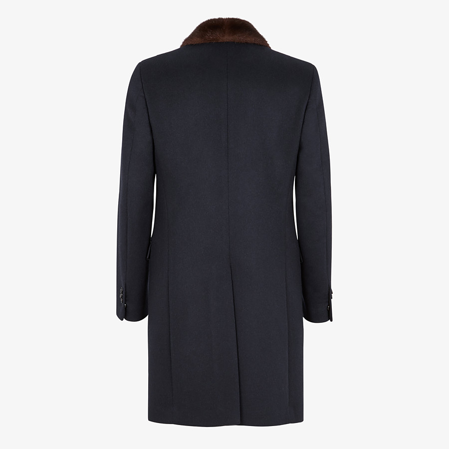 FENDI COAT - Blue wool and cashmere coat - view 2 detail