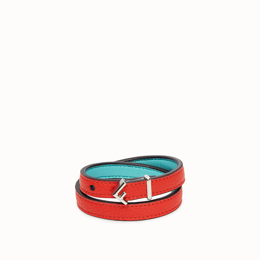 FENDI F DECO BRACELET - Red bracelet - view 1 detail