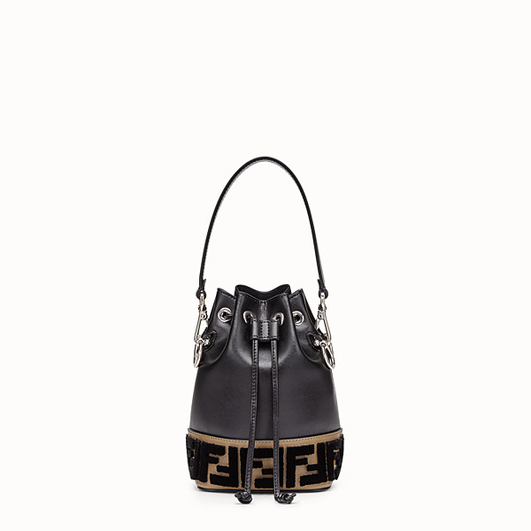FENDI MON TRESOR - Black leather minibag - view 1 small thumbnail