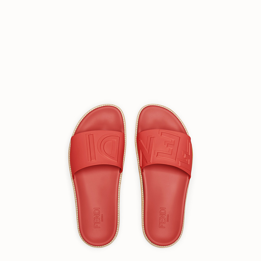 FENDI SLIDES - Red TPU fussbetts - view 4 detail