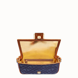 FENDI BAGUETTE - Blue denim bag - view 5 thumbnail
