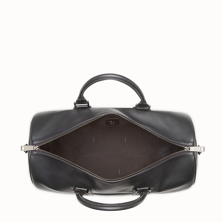 FENDI SATCHEL - Black leather bag - view 4 detail