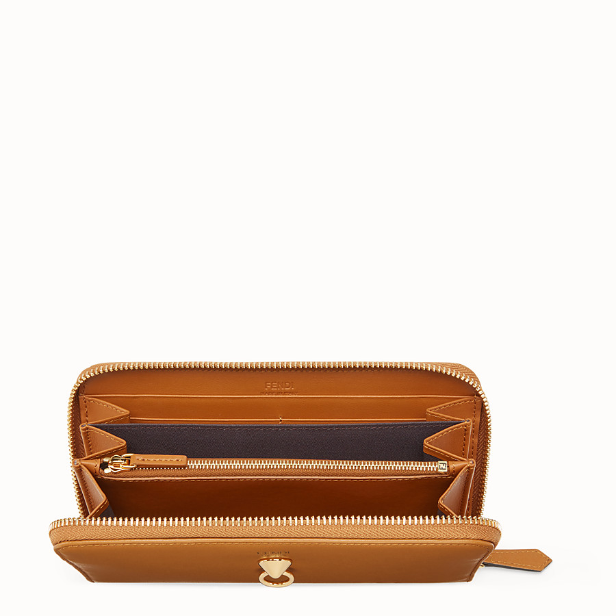 FENDI ZIP-AROUND - Brown leather wallet - view 4 detail
