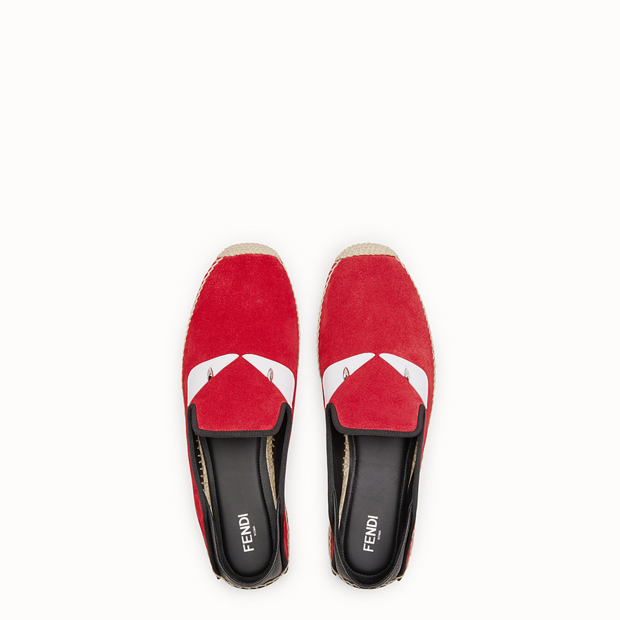 FENDI ESPADRILLES - Red split leather espadrilles - view 4 detail
