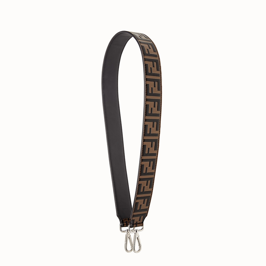 FENDI STRAP YOU - Leather shoulder strap - view 1 detail