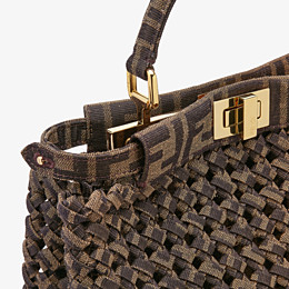 FENDI PEEKABOO ICONIC MINI - Jacquard fabric interlace bag - view 6 thumbnail
