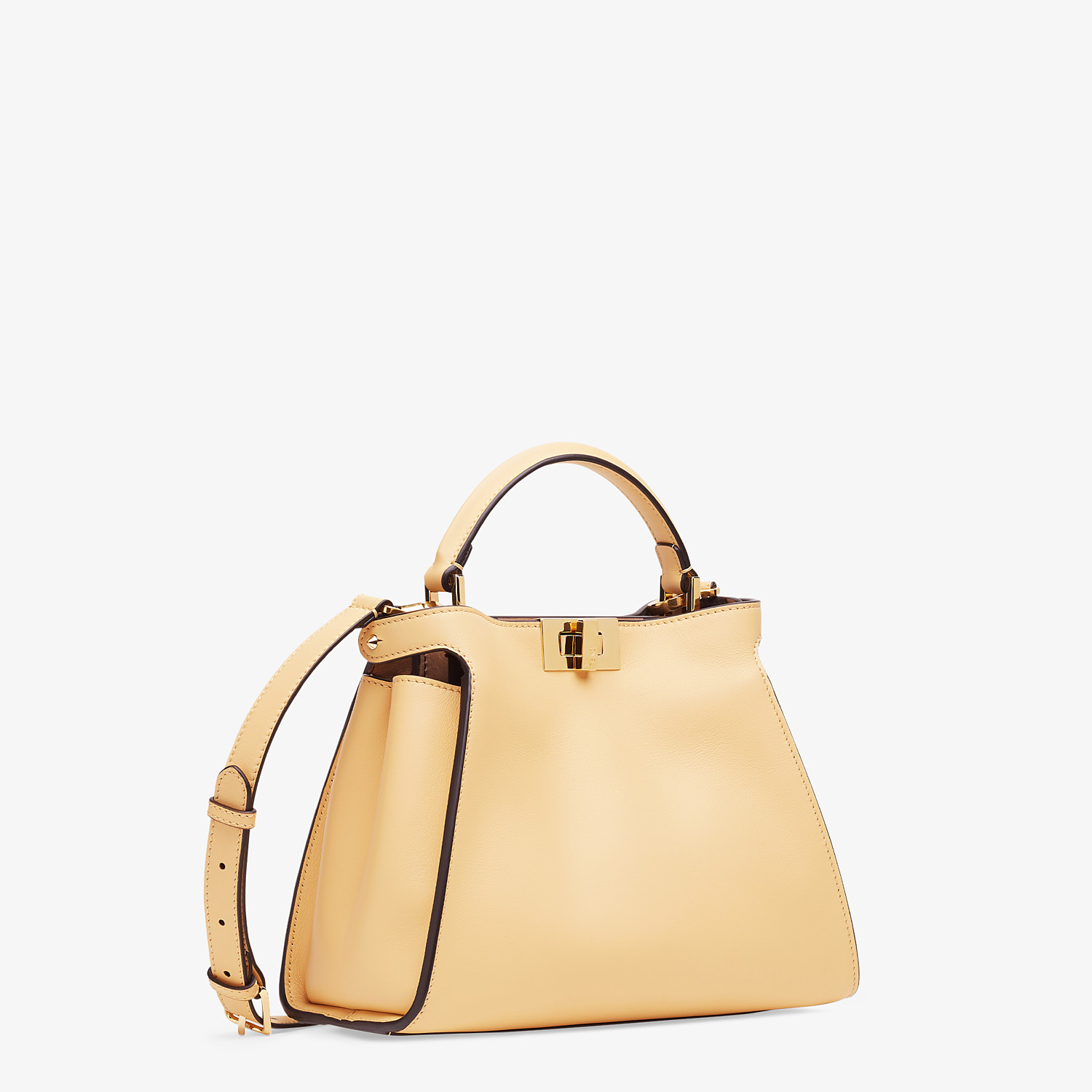 FENDI PEEKABOO ICONIC ESSENTIALLY - Yellow leather bag - view 2 detail