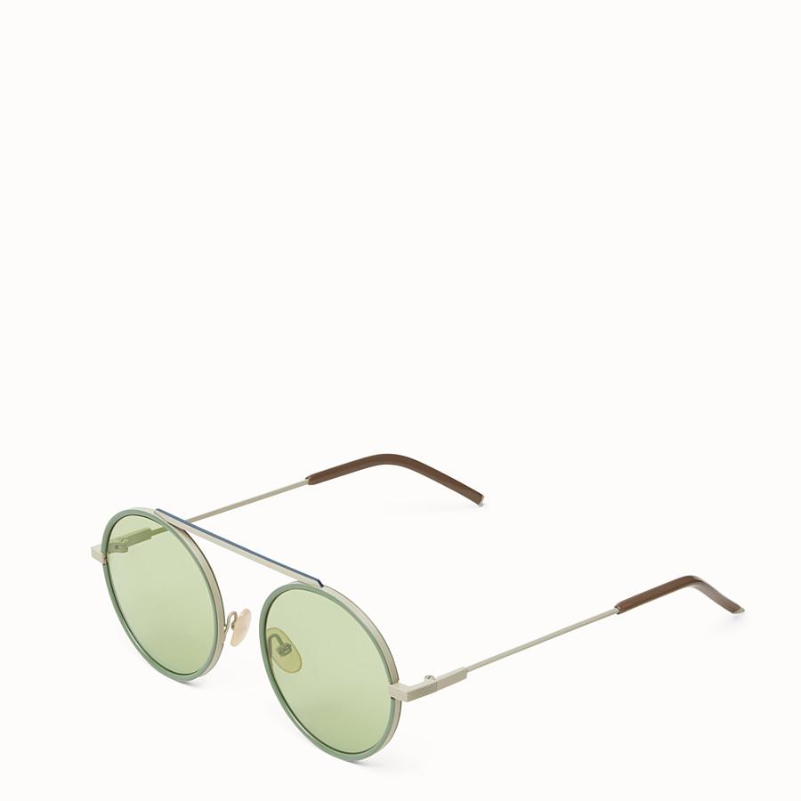 FENDI EVERYDAY FENDI - 白色磨砂及綠色太陽眼鏡 - view 2 detail