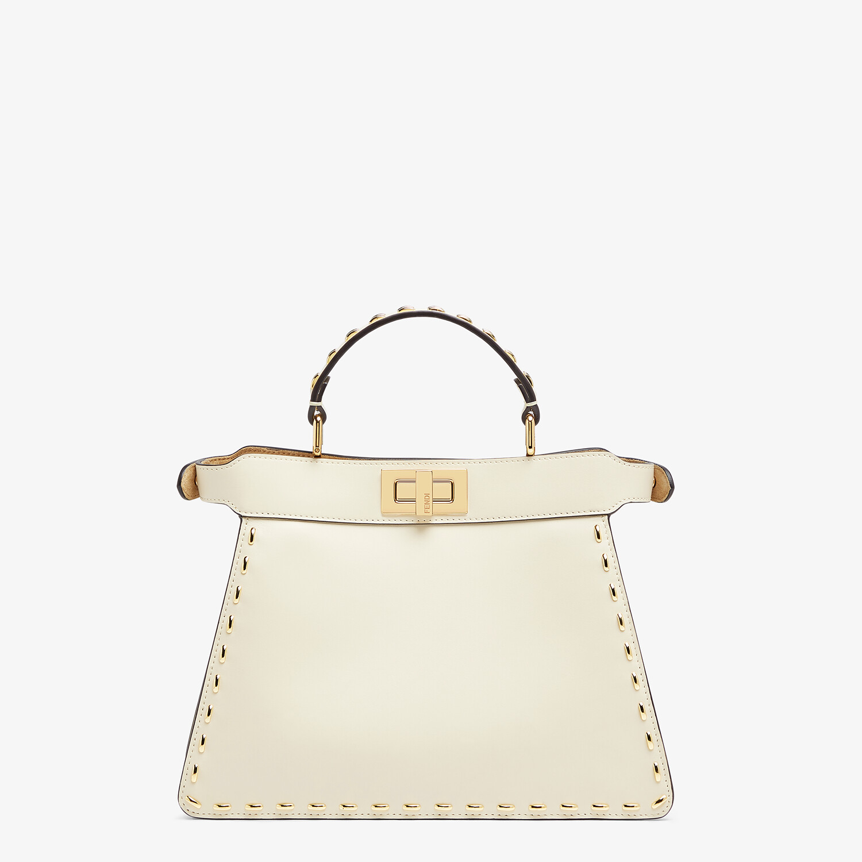 FENDI PEEKABOO ISEEU SMALL - White leather bag - view 4 detail