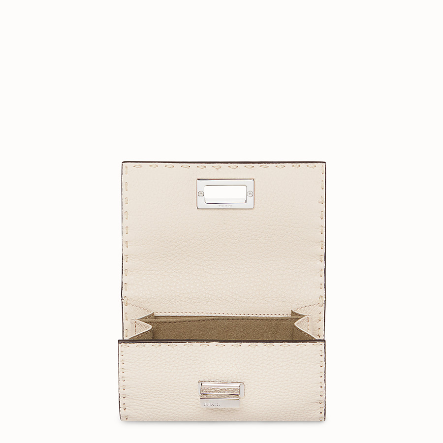 FENDI CONTINENTAL MEDIUM - White leather wallet - view 4 detail