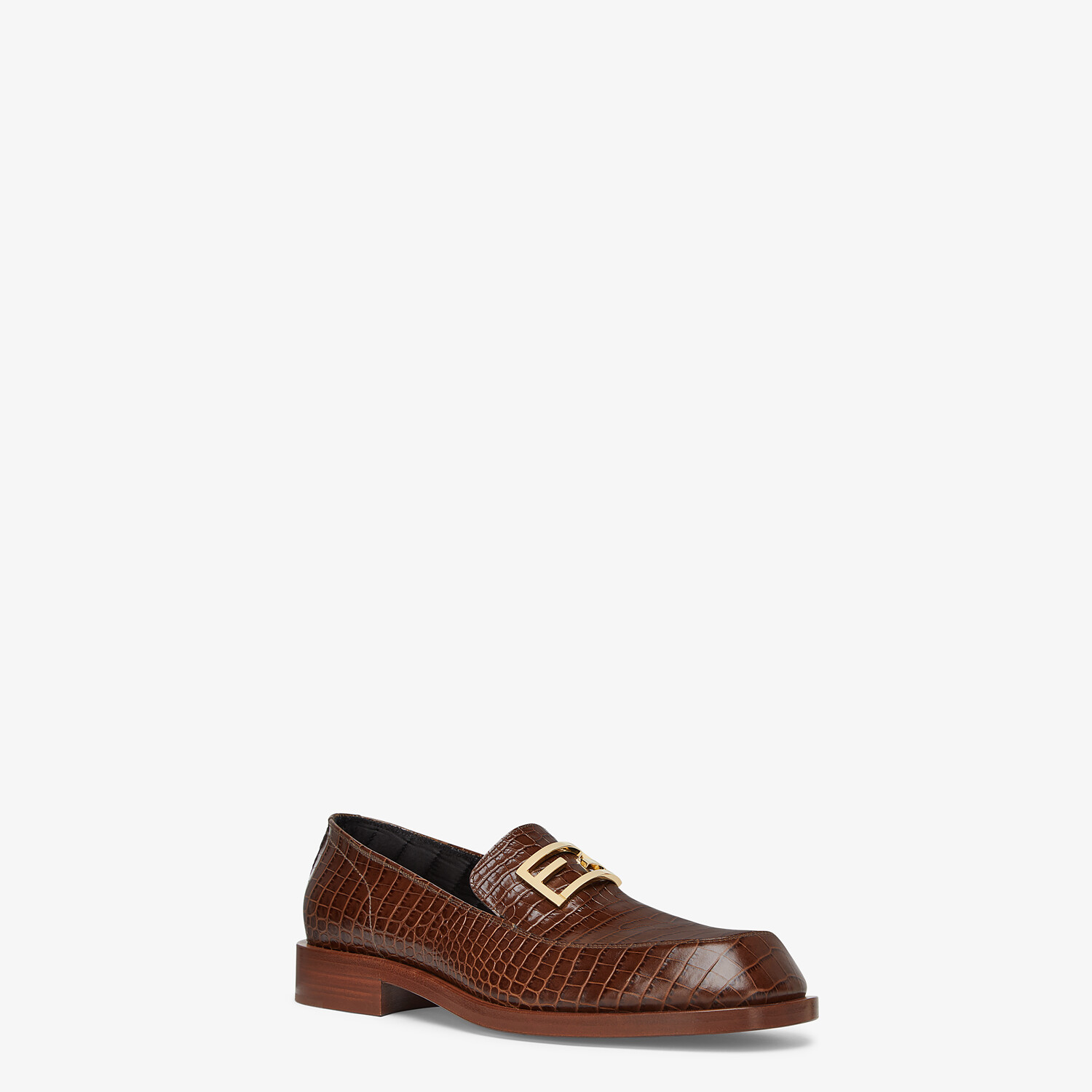 FENDI LOAFERS - Brown leather loafers - view 2 detail