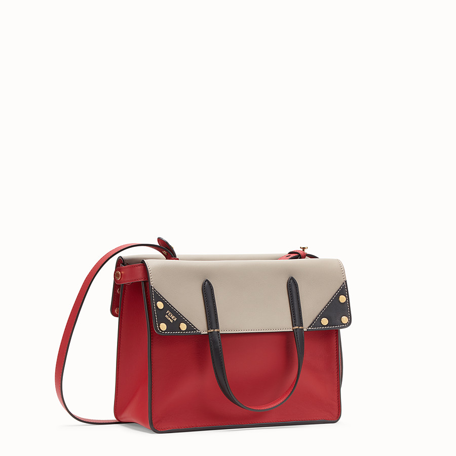 FENDI FENDI FLIP REGULAR - Red leather bag - view 3 detail