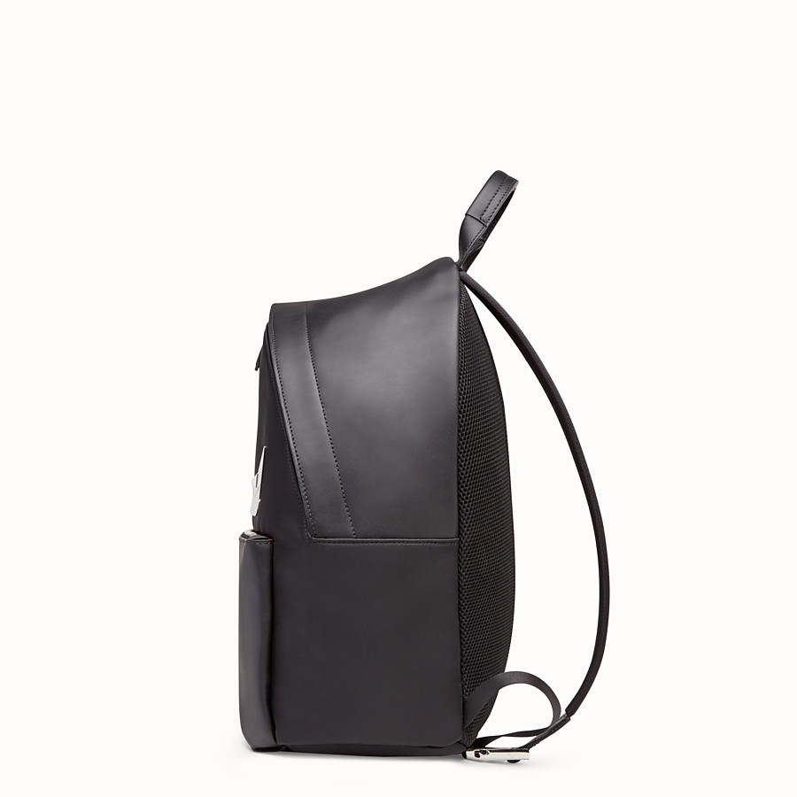 FENDI  - Nylon and leather backpack with inlays - view 2 detail