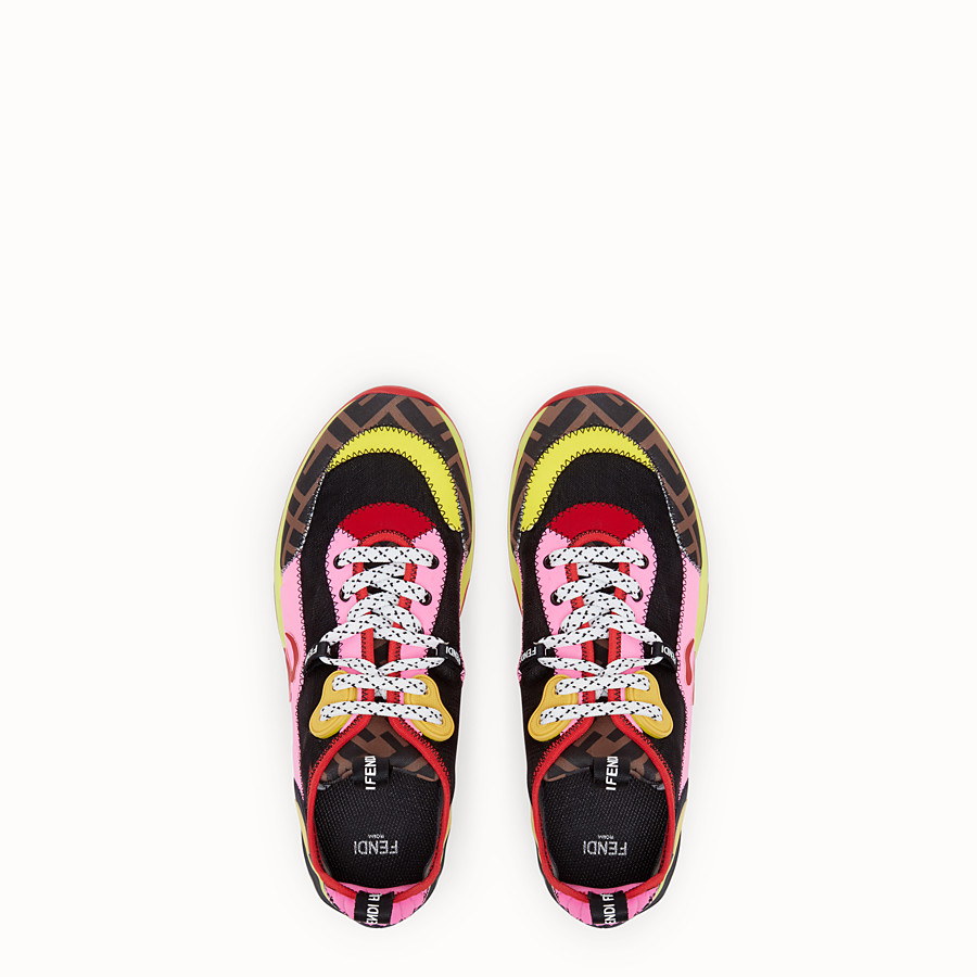 FENDI SNEAKERS - Fendi Roma Amor fabric sneakers - view 4 detail