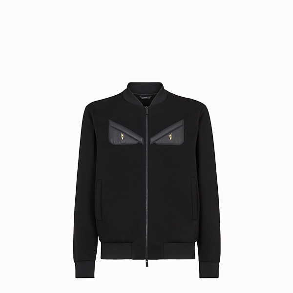 FENDI WINDBREAKER - Black scuba jacket - view 1 small thumbnail