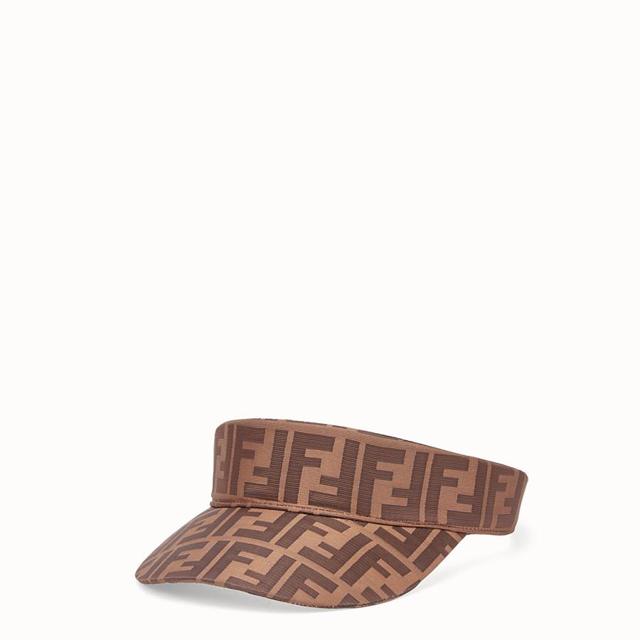 FENDI VISOR - Brown cotton visor - view 1 detail