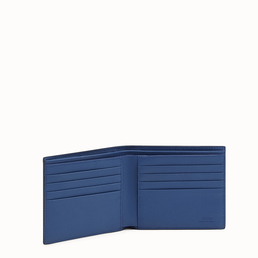 FENDI WALLET - Blue-leather bi-fold wallet - view 3 detail