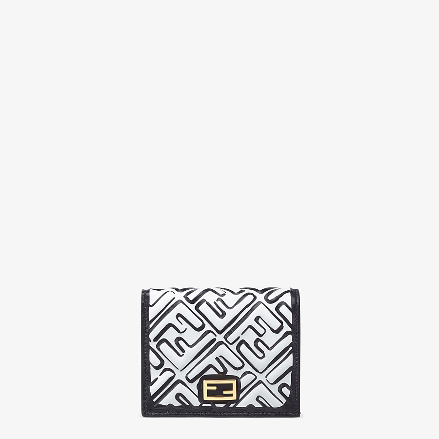 FENDI SMALL WALLET - White nappa leather wallet - view 1 detail