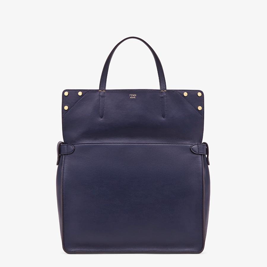 FENDI FENDI FLIP LARGE - Blue leather bag - view 3 detail