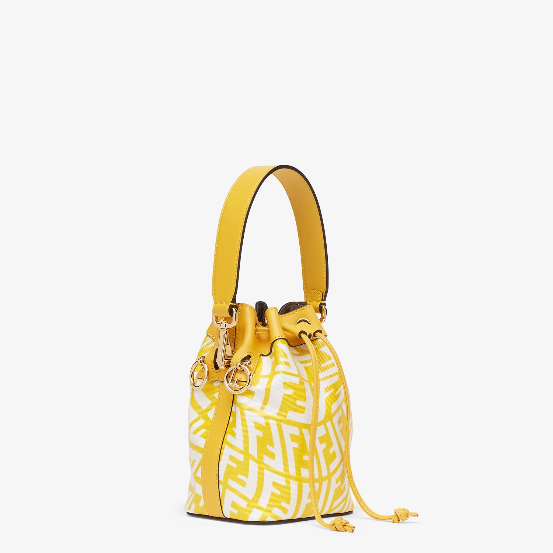 FENDI MON TRESOR - Yellow glazed canvas mini-bag - view 3 detail