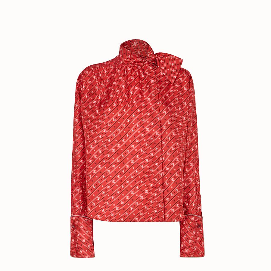 FENDI SHIRT - Red silk blouse - view 1 detail