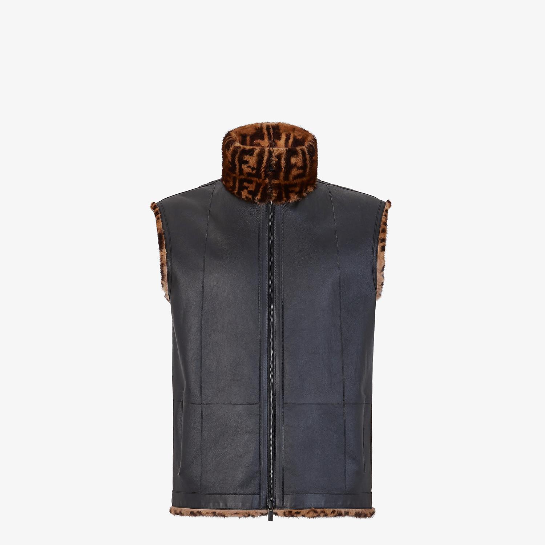 FENDI VEST - Brown mink vest - view 4 detail