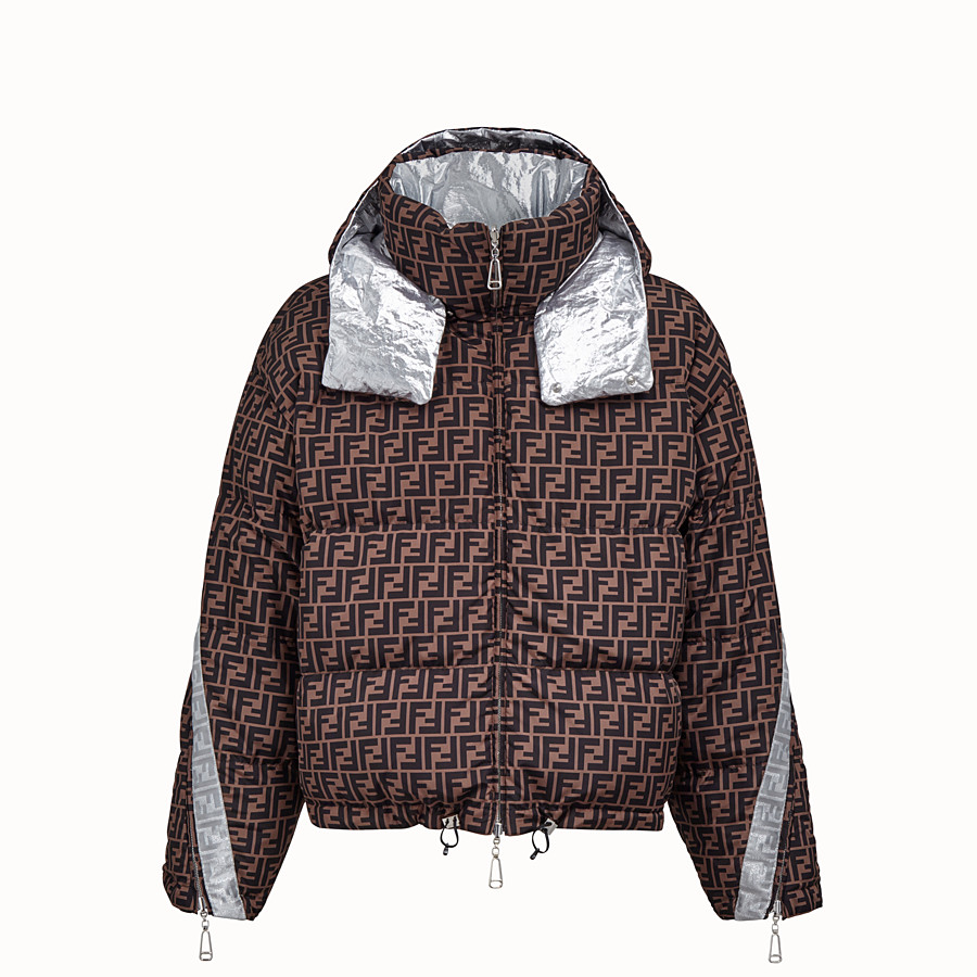 FENDI DOWN JACKET - Fendi Prints On nylon down jacket - view 4 detail