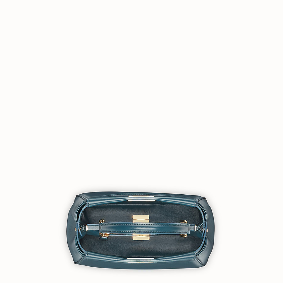 FENDI PEEKABOO MINI - Green leather bag - view 4 detail