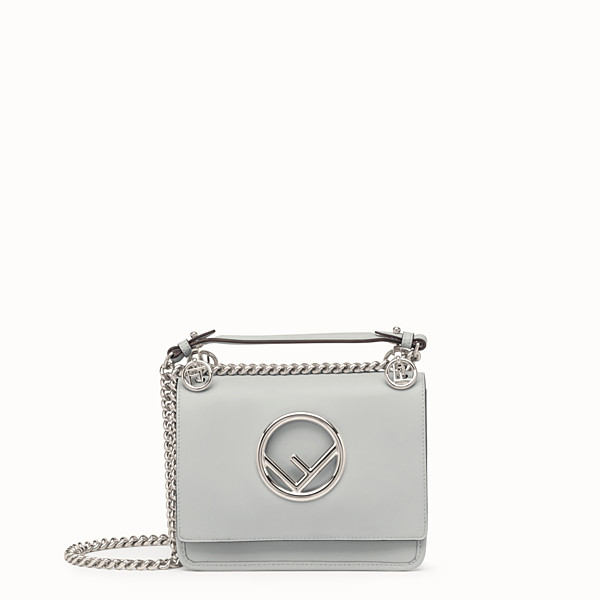 FENDI KAN I F SMALL - Grey leather mini-bag - view 1 small thumbnail