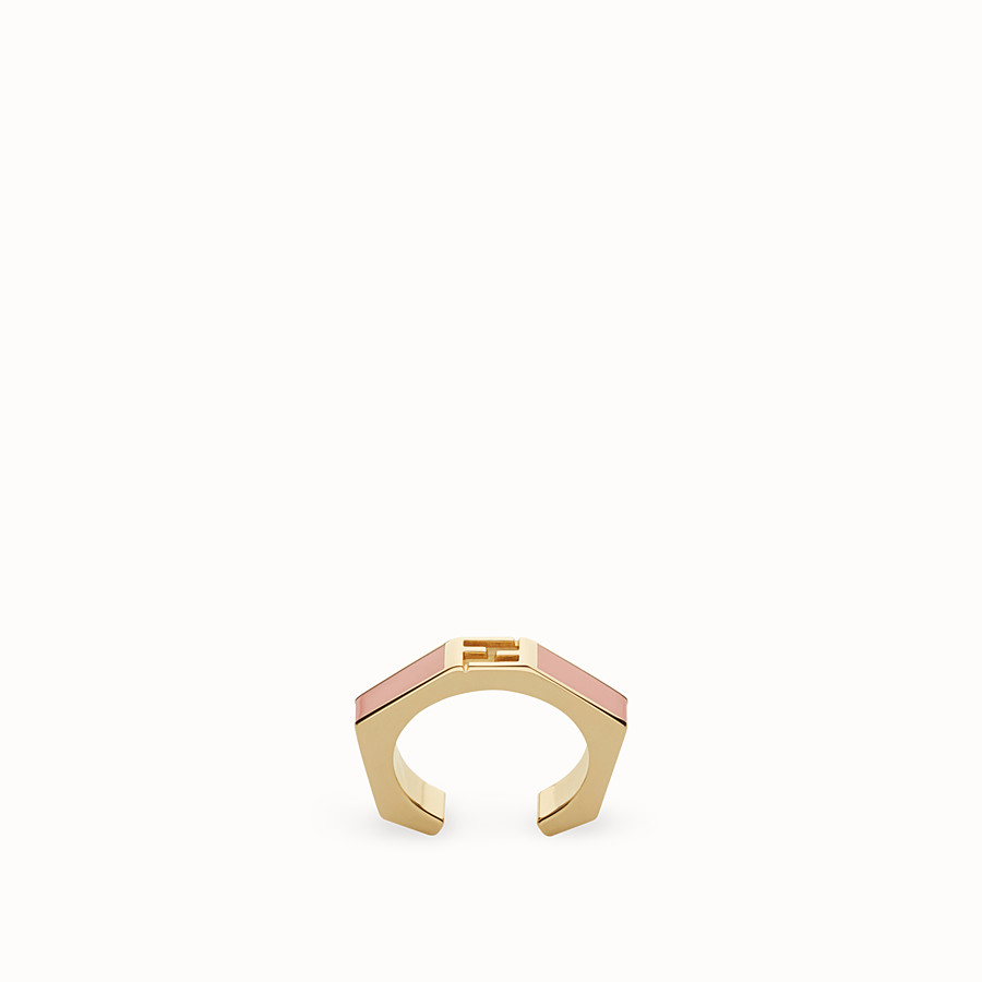 FENDI BAGUETTE RING - Polished pink Baguette ring - view 1 detail