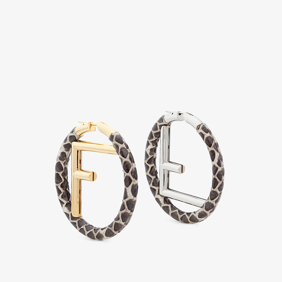 FENDI F IS FENDI EARRINGS - Beige earrings - view 1 detail