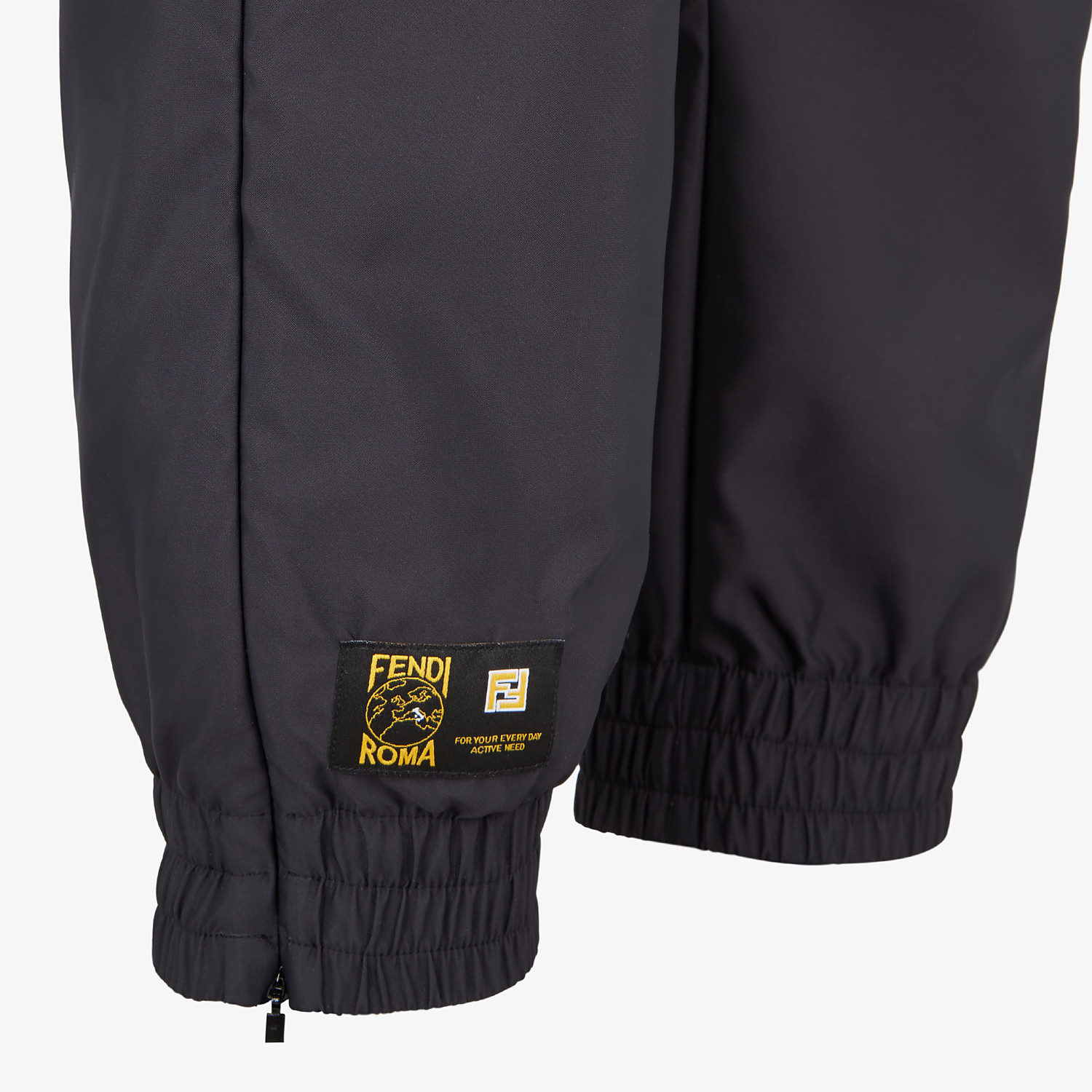 FENDI PANTS - Black tech satin pants - view 3 detail