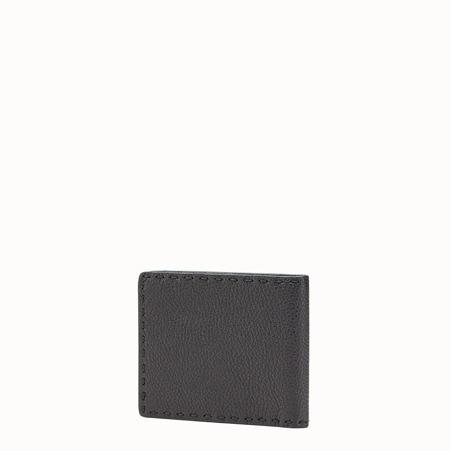 FENDI BRIEFTASCHE - in Horizontalformat aus schwarzem römischem Leder - view 2 detail