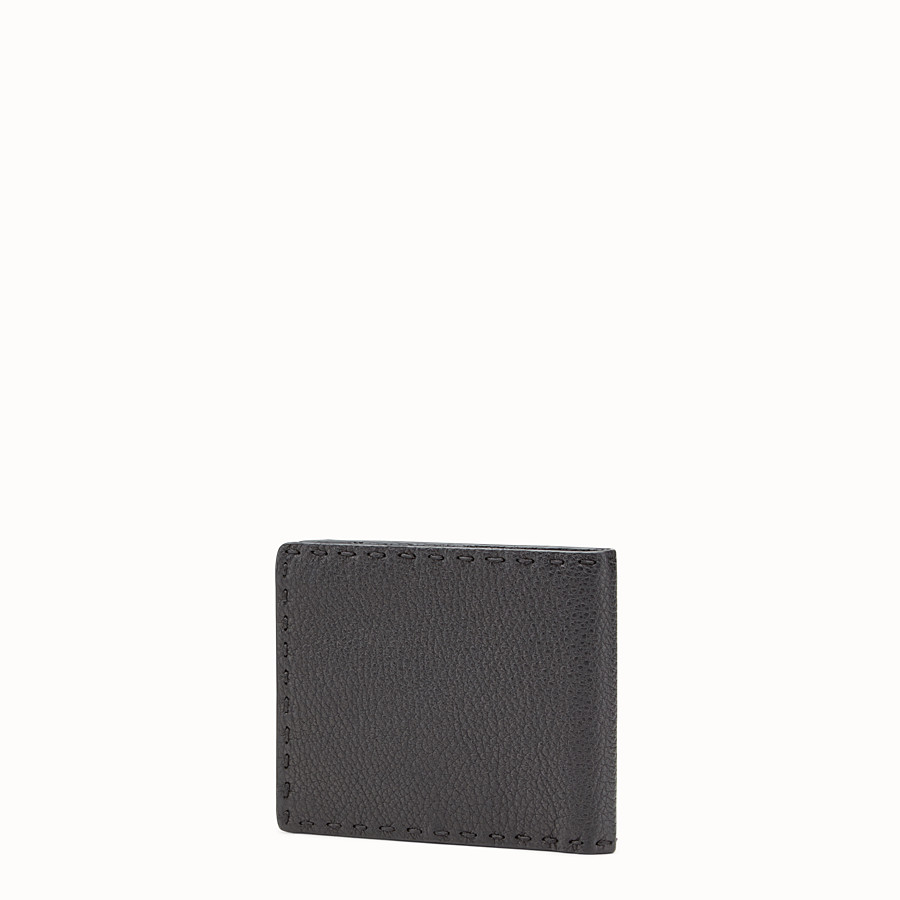 FENDI WALLET - horizontal black Roman leather - view 2 detail