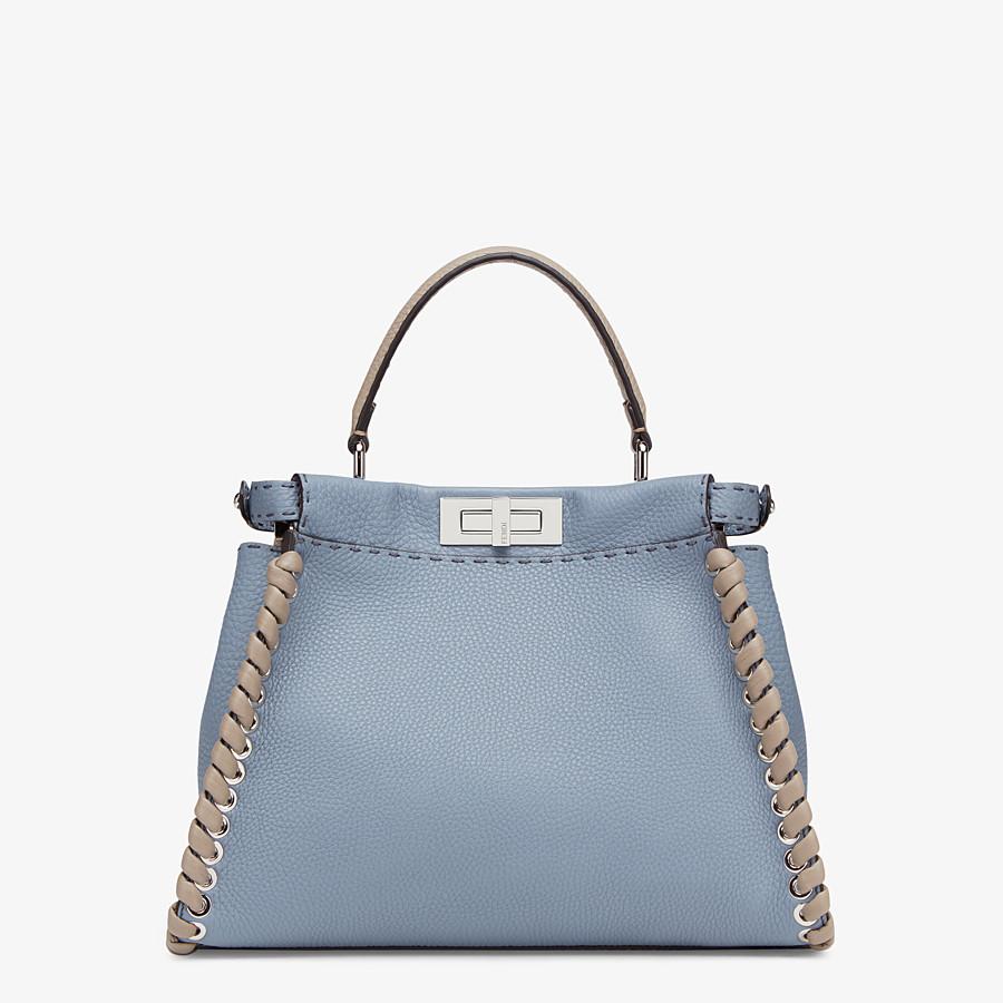 FENDI PEEKABOO ICONIC MEDIUM - Pale blue leather bag - view 4 detail
