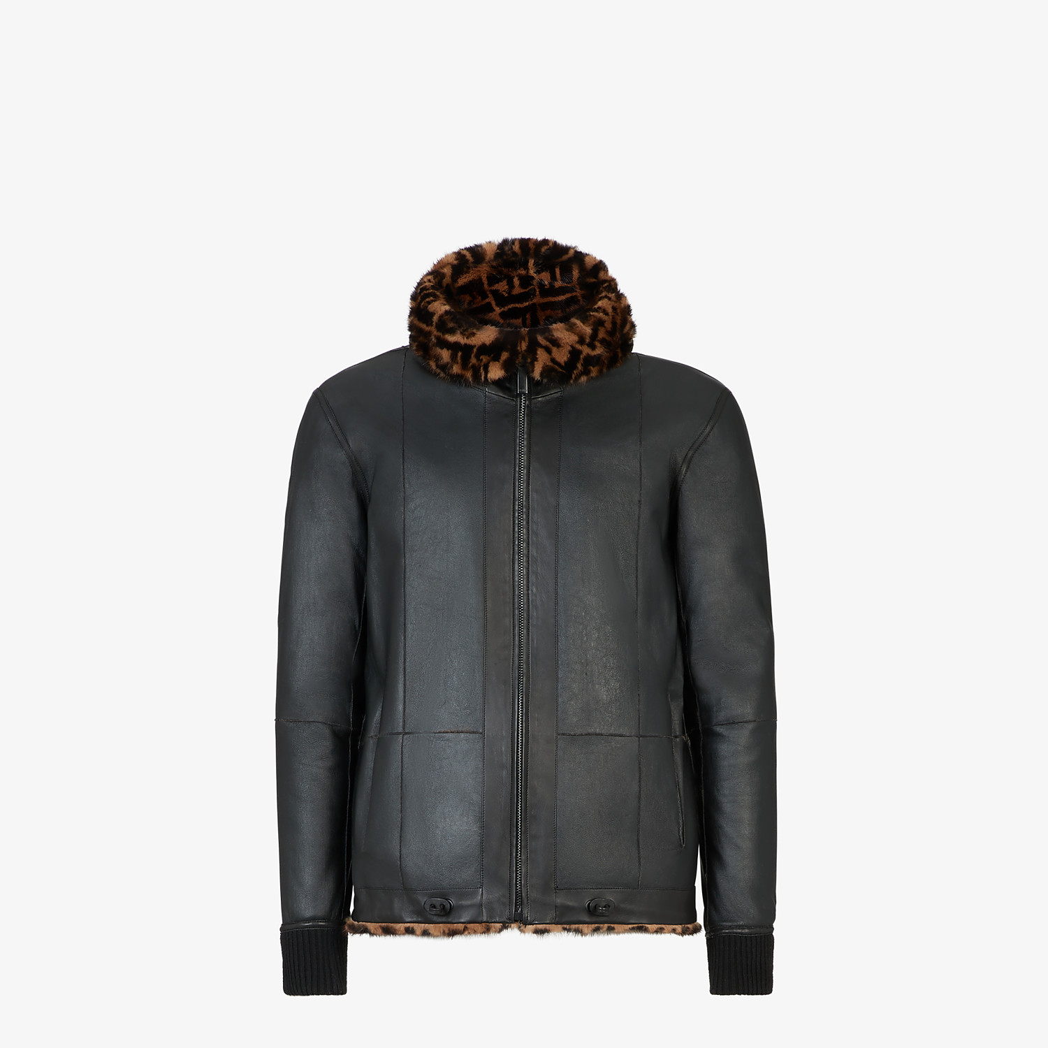 FENDI BLOUSON JACKET - Multicolor mink jacket - view 4 detail