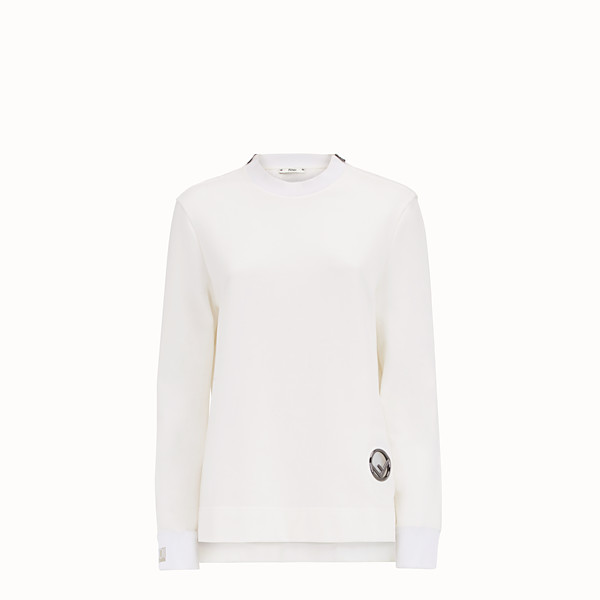 FENDI SWEAT-SHIRT - Sweat-shirt en coton blanc - view 1 small thumbnail