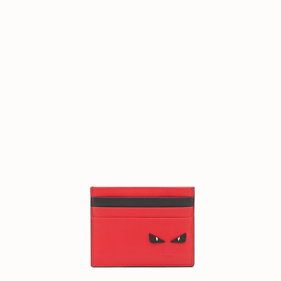 FENDI CARD HOLDER - Multicolour leather card holder - view 1 detail