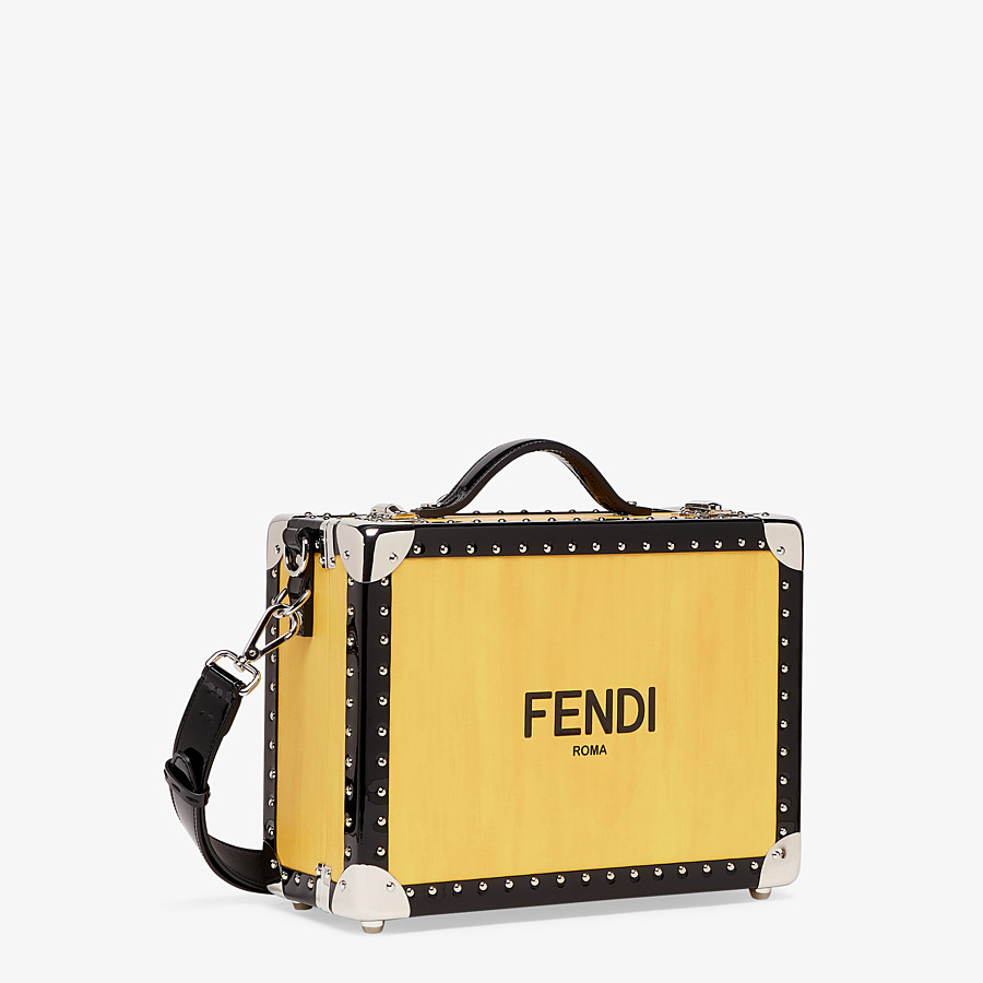 FENDI TRAVEL BAG SMALL - Yellow leather suitcase - view 2 detail