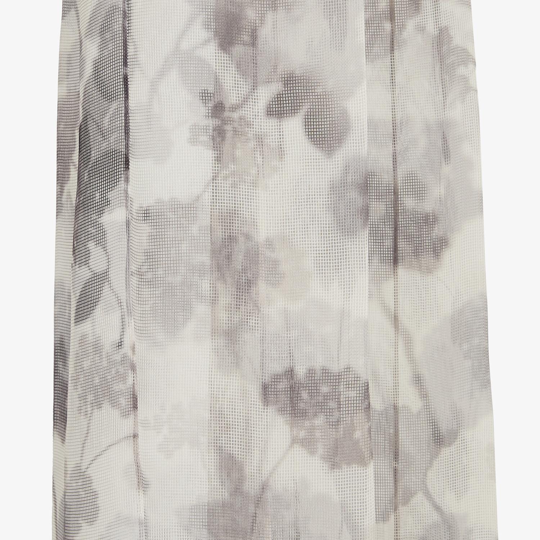 FENDI PANTS - Gray organza pants - view 3 detail
