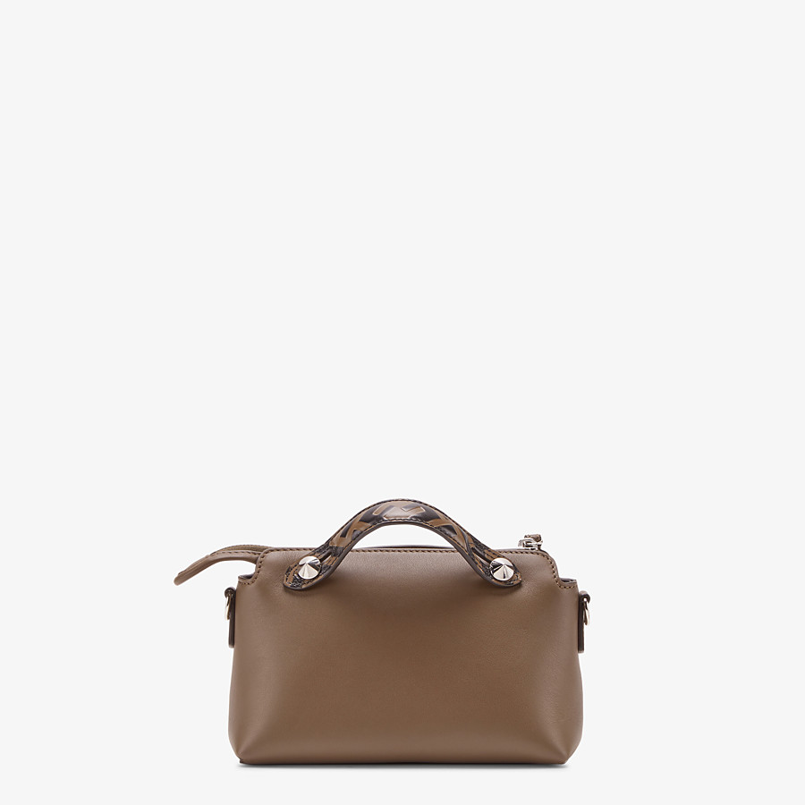 FENDI BY THE WAY MINI - Small brown leather Boston bag - view 3 detail
